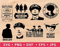 Men in hats with blinders illustration. Peaky Blinders Svg Etsy