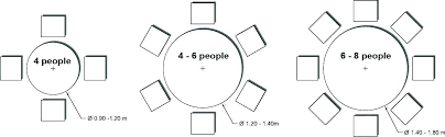 table size for 6 round table size for 6 dining dimensions person 8 chairs in round table size for