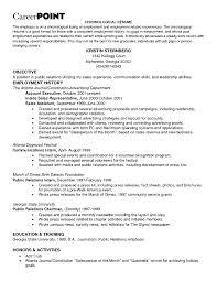 Resume Employment History job history resume Enderrealtyparkco 1
