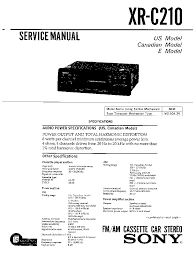 sony xr 2100 car stereo wiring diagram sony wiring diagrams sony xr c2200 c2300x sm service manual schematics