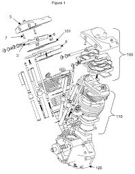 Harley davidson engine exploded view unique patente us twin cylinder motorcycle engine patentes