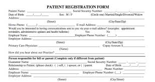medical patient registration form patient registration form template prade co lab co