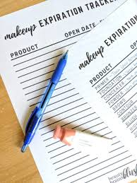 Makeup Expiration Chart Makeup Expiration Chart And Tracker Free Printable