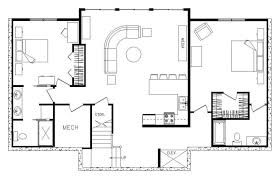 Easy Rectangle House Plans First Floor Plan Of Country Ranch House        Agreeable Rectangle House Plans   Interior Design