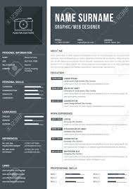 Modern A4 One Page Resume Template With Timelines For Education