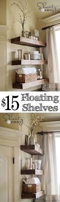 redo your bathroom yourself. easy diy floating shelves redo your bathroom yourself