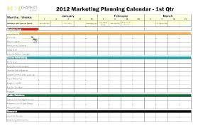 Strategic Planning Calendar Template Communication Plan