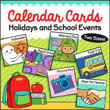 Calendar Holiday Cards Holiday Calendar Classroom