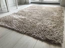 champagne coloured rug 170cm x 120cm