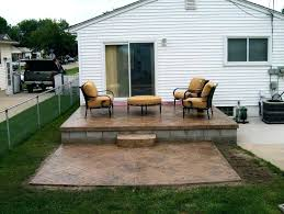 raised concrete patio deck building raised deck over concrete patio raised concrete patio deck building