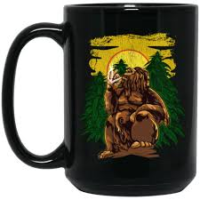 Frequent special offers and discounts up to 70% off for all products! Marijuana Bong Bigfoot Sasquatch Weed Cannabis Black Mug Toboart