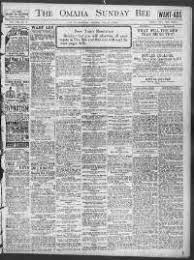 Omaha daily bee. (Omaha [Neb.]) 187?-1922, December 31, 1911, WANT AD  SECTION, Image 24 « Chronicling America « Library of Congress