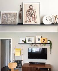 trace wall ledges in living space