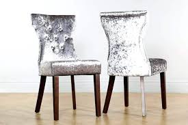 white velvet dining chairs table and