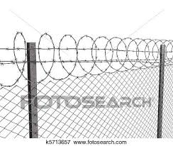barbed wire fence drawing. Modren Fence Chainlink Fence With Barbed Wire On Top Isolated White Background Intended Barbed Wire Fence Drawing 0