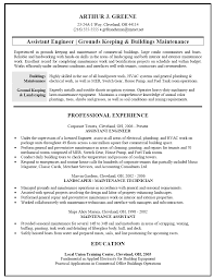 Gallery Of Resume Sample For Facilities And Building Maintenance
