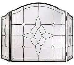 glass fireplace screen. Leaded Glass Fireplace Screen - Rafael Martinez