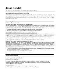 Brilliant Ideas of Sample Accounting Internship Resume On Example