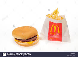 mcdonalds cheeseburger and fries. Cheeseburger And French Fries On White Background Cutout Stock Image With Mcdonalds