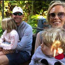 Lucas Glover and his wife Krista Glover ...
