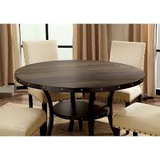Furniture Of America Gabriel Rustic Round Dining Table Walmartcom