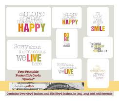 Quote Cards Impressive Project Life Quote Cards Smitha Katti