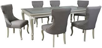 extendable dining room table by signature design by ashley. coralayne silver rectangular extendable dining room set table by signature design ashley r