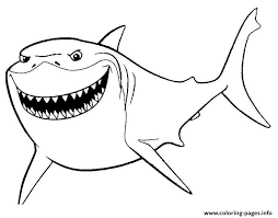 Bruce Finding Nemo Movie Coloring Pages Printable