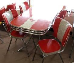 formica kitchen table sets red vintage red gray apples dinette table w chairs gray red apple