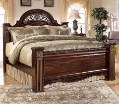 Signature Designashley Gabriela Traditional King Poster Bed Ivan Smith  Bedroom Sets