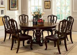 furniture of america cm3319rt bellagio formal dining room set with