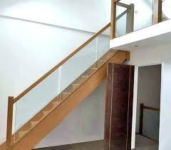 glass stair railing cost per linear foot metal staircase s