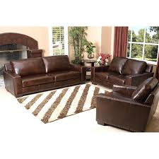 abbyson beverly 3 piece hand rubbed leather sofa set brown com