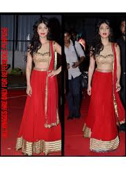 Red Color Bollywood Lehenga Online From Skysarees Bollywood