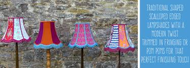 traditional scalloped edged standard lampshade