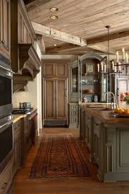rustic interior lighting. Rustic Interior Design For Kitchen With Wooden Floor Under Small Lighting P