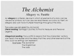the alchemist by paulo coelho ppt video online the alchemist allegory vs parable an allegory is a literary device in which all elements