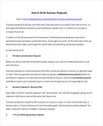 Sample Of Proposal Letters Sample Proposal Offer Letter 6 Examples In Pdf Word