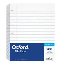 Lined Papers Magnificent Amazon Oxford Filler Paper 484848 X 4848 College Rule 48Hole