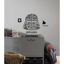 multi color star wars typographic darth vadar l and stick giant wall