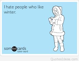 funny hating people quote in winter