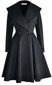 long wool trench coat fit and flare wool trench coat winter long overcoat jacket lapel wrap