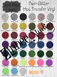 Siser Glitter Digital Color Chart With Space For Your Shop