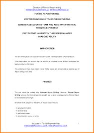 Sample Formal Reports 25363512615771 Formal Report Format Sample