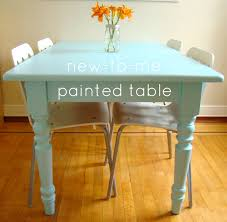 a painted table