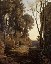 camille corot landscape setting sun the little shepherd camille corot painting authorized official website