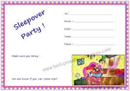 Free Pajama Party Invitation