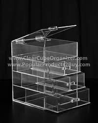 image is loading acrylic lucite clear cube makeup organizer w drawers