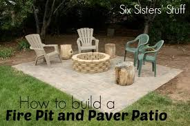 patio pavers with fire pit. Fine Patio How To Build A Fire Pit And Paver Patio Tutorial Plus Video Tutorial For Pavers With L