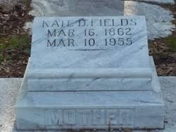 """Mary Katherine """"Kate"""" Derrick Fields (1862-1955) - Find A Grave Memorial"""